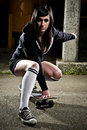 Beautiful skater teen girl Stock Photography