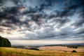 Beautiful skies over farmland Royalty Free Stock Images