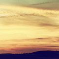 Beautiful sky with clouds at sunset Royalty Free Stock Photo