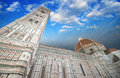 Beautiful sky colors over Cathedral Church. Duomo, Basilica di S Stock Photography
