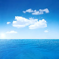 Beautiful sky ocean sea summer shot Stock Photos