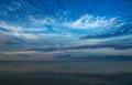Beautiful sky over the Baltic Sea Stock Image