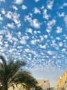 stock image of  a beautiful sky pattern beautifully alined patterns of cloud.