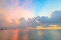 Beautiful sky and sun set in thailand s sea Stock Images