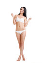 Beautiful slim woman in lingerie Royalty Free Stock Photo
