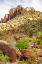 Beautiful slopes zion canyon utah usa Stock Image