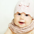 Beautiful small baby girl Stock Photos