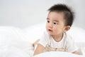 Beautiful smiling asian cute baby