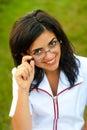 Beautiful smiling doctor outdoors Stock Photos