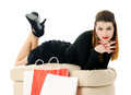 Beautiful smiling girl with shopping bags Stock Photography