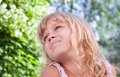 Beautiful smiling little blond girl portrait Royalty Free Stock Photos