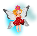 Beautiful smiling little fairy Royalty Free Stock Images