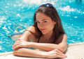 Beautiful smiling woman relaxing on summer holidays Stock Photography