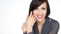 Beautiful smiling young woman with healthy face and clean skin Royalty Free Stock Photo