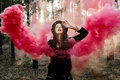 Beautiful smoke fairy Royalty Free Stock Photo