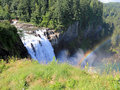 Beautiful Snoqualmie Falls Stock Photo