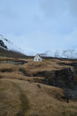 Beautiful Snow Covered Mountains Surround Hellnar Iceland
