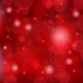 Beautiful soft red snowflake background Stock Image
