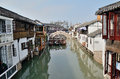 Beautiful southern town zhujiajiao an ancient shanghai taken in shanghai october Royalty Free Stock Image