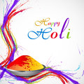 Beautiful splash of colorful grunge wave gulal for holi background Royalty Free Stock Image