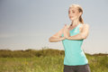 Beautiful sport  young  woman exercising in the outdoors yoga ph Royalty Free Stock Photo