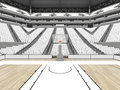 Beautiful sports arena for basketball with white seats