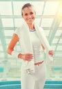 Beautiful Sportswoman Wearing ...