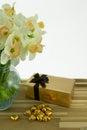 Daffodils In Vase.