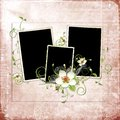 Beautiful spring frame with apple tree flowers Stock Images