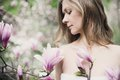 Beautiful Spring Girl with flowers Royalty Free Stock Photo