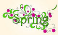 Beautiful spring text Stock Photos