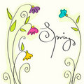 Beautiful spring text Stock Images
