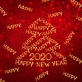 Beautiful square holiday greeting card Happy New Year 2020 Royalty Free Stock Photo