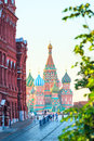 Beautiful st basil s cathedral on red square Royalty Free Stock Image