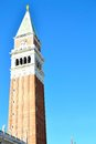 beautiful St. Marks Campanile, bell tower in Venice in Italy Royalty Free Stock Photo