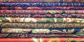 Beautiful stacked batik pattern and motifs Stock Photos
