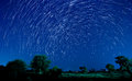 Beautiful star trail image during the night Royalty Free Stock Image
