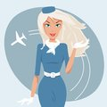 Beautiful stewardess