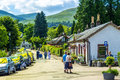 Beautiful stone cottages in Luss, Scotland, UK, 21 July, 2016 Royalty Free Stock Photo