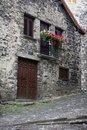Beautiful stone houses in spanish Pyrinees Stock Photo