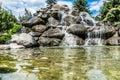 Beautiful stone watefall fountain Royalty Free Stock Photo