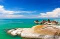 Beautiful stones on lamai beach koh samui thailand asia Stock Photography