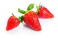 Beautiful strawberries isolated white Stock Photo