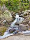 Beautiful stream on Pelion mount near Zagora village, Greece Royalty Free Stock Photo