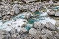 Beautiful stream and rocks on the way to Wanaka Royalty Free Stock Photo