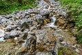 Beautiful streams and small waterfalls on the Eibsee Royalty Free Stock Photo