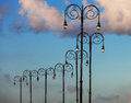 Beautiful street lights against the sky Stock Photo