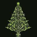 Beautiful stylized christmas tree Royalty Free Stock Photo