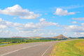 Beautiful summer landscape with highway Stock Images