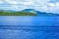 Beautiful summer landscape at Loch Lomond in Luss, Scotland, UK Royalty Free Stock Photo